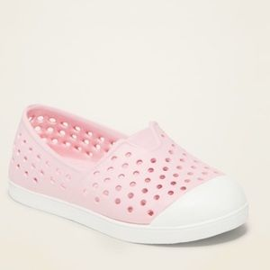 NWT PINK PERFORATED SLIP ON SNEAKER